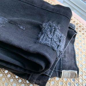 Current/Elliot Black Distressed Jeans